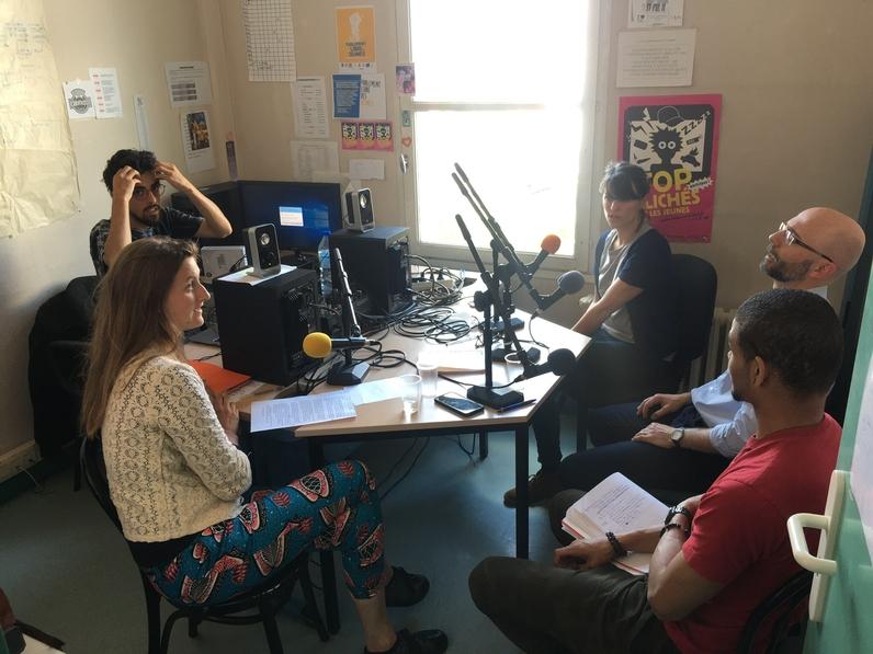 Les ressources de la Mission Locale (ici la web radio) sont autant d'outils que le CAUE sollicite pour établir le diagnostic avec les usagers.