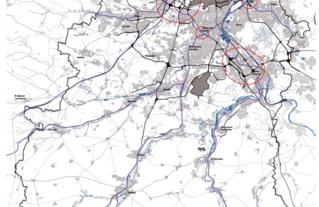 GUIDE DES PAYSAGES - Carte des infrastructures routières, ferroviaires et aéroportuaires de l'Essonne - 2013