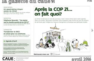 #18 la gazette du CAUE de l'Essonne - Sommaire - 2016