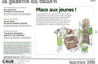 #17 la gazette du CAUE de l'Essonne - Sommaire - 2016