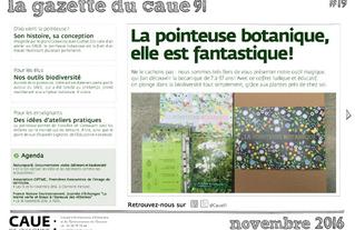 #19 la gazette du CAUE de l'Essonne - Sommaire - 2016