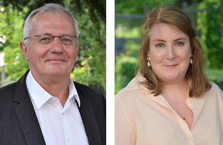 Jean-Marie Vilain, maire de Viry-Chatillon et Aurélie Troubat, adjointe au maire déléguée à la rénovation urbaine, à la politique de la ville et aux travaux