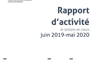 Rapport d'activité et actions en cours de mai 2019 juin 2020. page 01