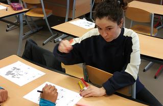 Action menée en 2020 par Cécile Besnard, architecte du CAUE de l'Essonne, au collège Rosa Luxemburg de Lisses