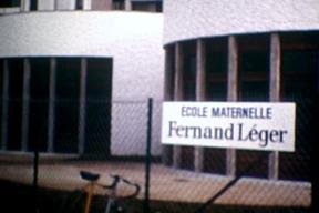 """""""Sur les banc de l'école"""" - École Fernand Léger"""