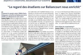 Entretien avec Joanne Vajda est architecte DPLG, docteur EHESS et maître de conférences à l'ENSA Paris-Malaquais. Sébastien Lefetz est adjoint à l'urbanisme à la mairie de Ballancourt-sur-Essonne. pg1